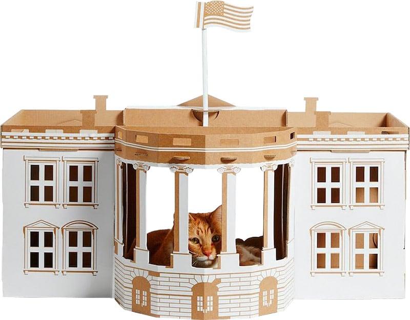 خانه گربه ای مقوایی